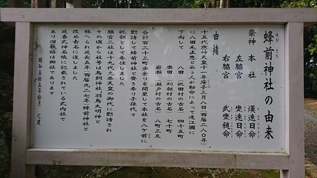 蜂前神社の由来
