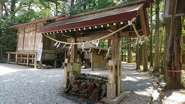 秋葉山本宮秋葉神社(下社)手水舎