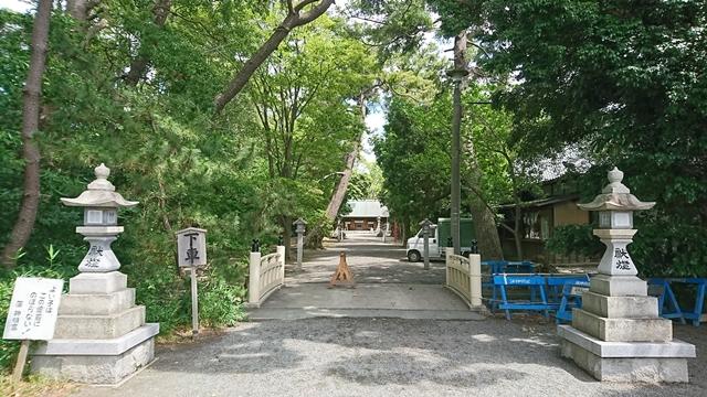 蒲神明宮 参道